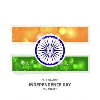 タイポグラフィと輝くインドの独立記念日フラグ