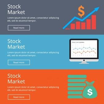 Фондовый рынок веб-баннера