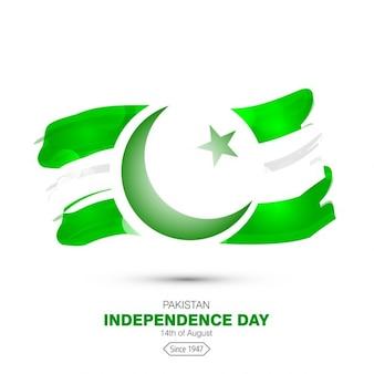 水彩パキスタンの旗効果