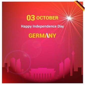 Германия страна достопримечательности красный фон