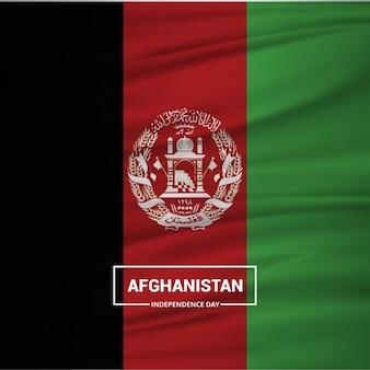 アフガニスタンの旗を振っ