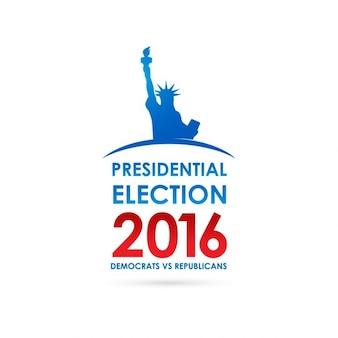大統領選挙のバナーの背景