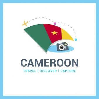 Камерун путешествия откройте для захвата логотип