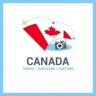 カナダ旅行のロゴ
