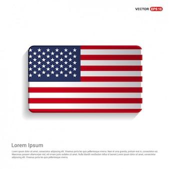 アメリカ国旗テンプレートの米国