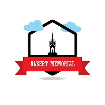 アルバート記念碑リボンラベル