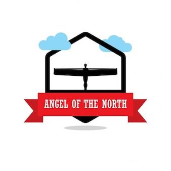 Ангел этикетки северной ленты