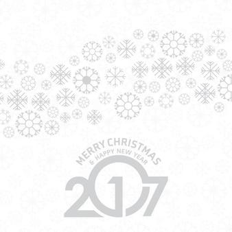 雪片と新年白い背景
