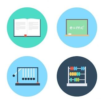 学校と教育アイコンセット