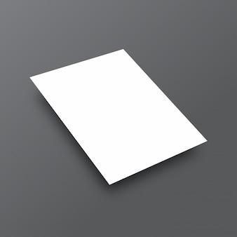 シンプルな白のモックアップ