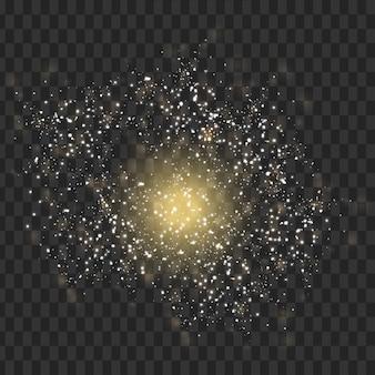 Векторный свет след с звездным блеском вспышки магический эффект