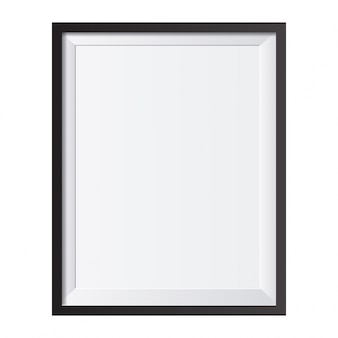 Реалистичная рамка для фотографий, изолированных на белом фоне идеально подходит для ваших презентаций векторная иллюстрация