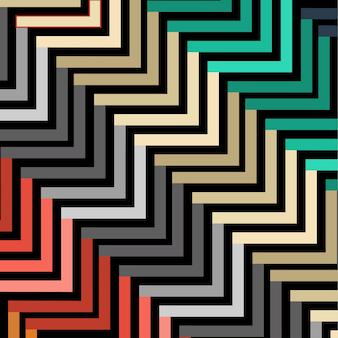 抽象的なシームレスな幾何学的なマルチカラーパターンベクトル図暗い色