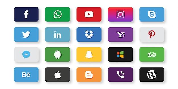 Набор значков социальных сетей
