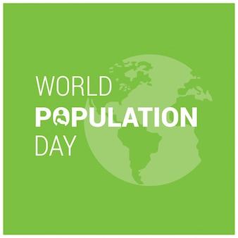 世界人口の日緑の背景