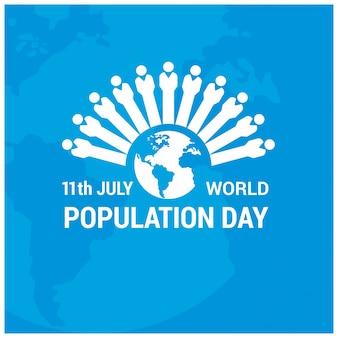世界人口の日の数字によるデザイン