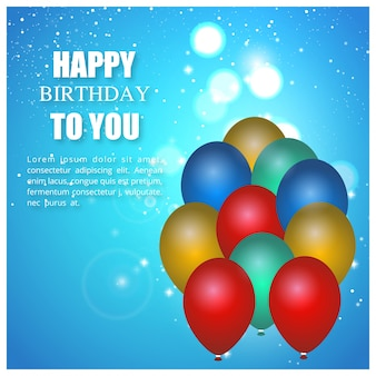 お誕生日おめでとうあなたに青い背景