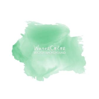 抽象的な水彩スプラッシュ緑色の水彩ドロップは、白い背景に