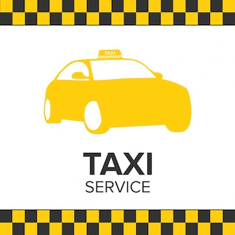タクシーアイコンタクシーサービスタクシー車の白い背景
