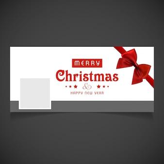 Социальные медиа обложки с рождественским дизайном