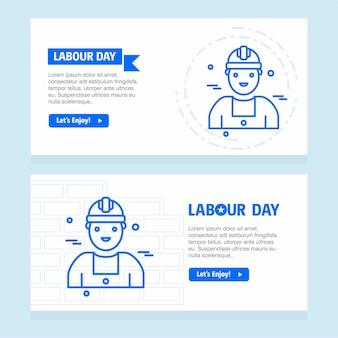 Счастливый рабочий день рабочего дня с синим вектором темы