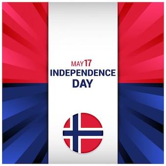 抽象ノルウェー独立記念日の背景