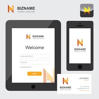 Подпись мобильного телефона и планшета в дизайне экрана