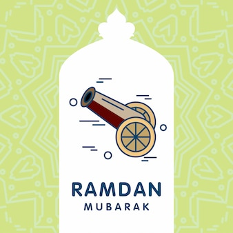 Рамадан карим векторный фон открытки