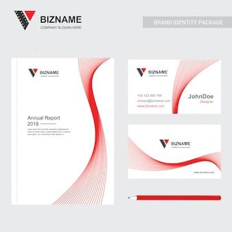 創造的なデザインのベクトルと会社のパンフレット