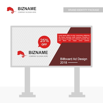 会社象のロゴベクトルとビルボードデザイン