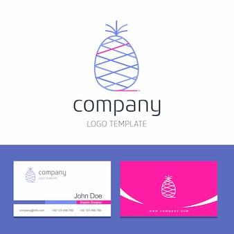 果物の会社のロゴベクトルと名刺のデザイン