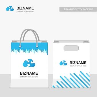 会社のデザインのショッピングバッグ