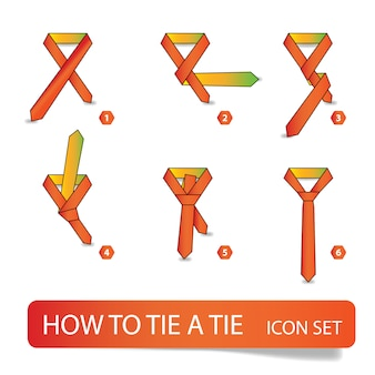 Как завязать галстук, инструкция пошаговая
