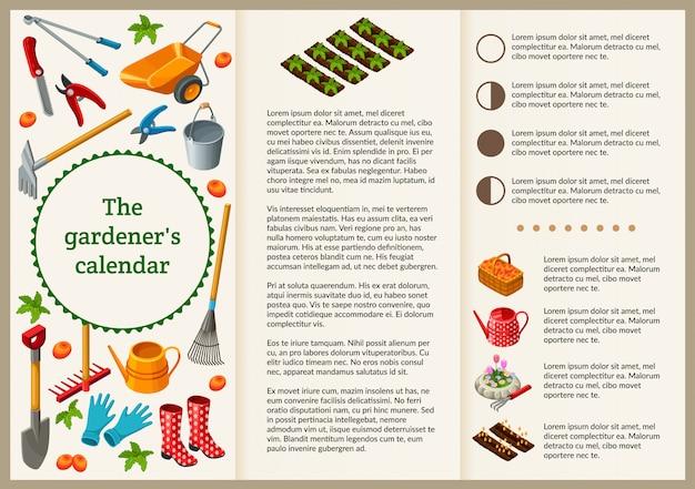 プレゼンテーションのための庭師のパンフレット。