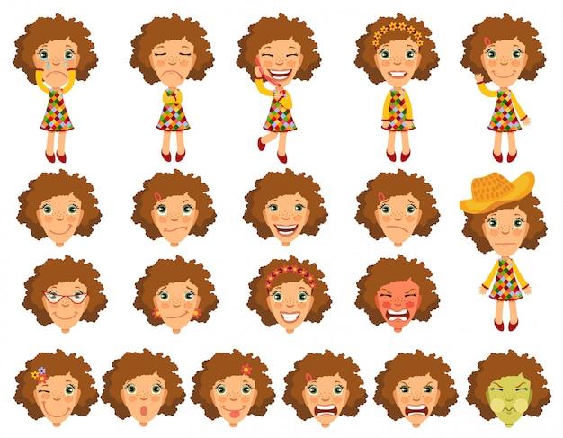 アニメーションのための感情少女キャラクター。
