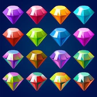 宝石とダイヤモンド。