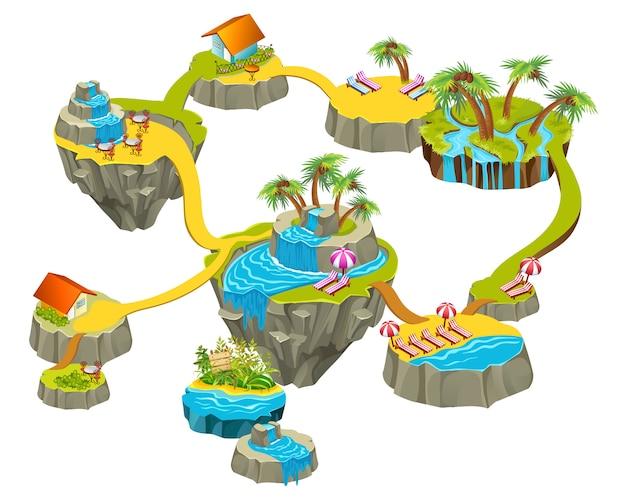 リラックスできる熱帯の島々。