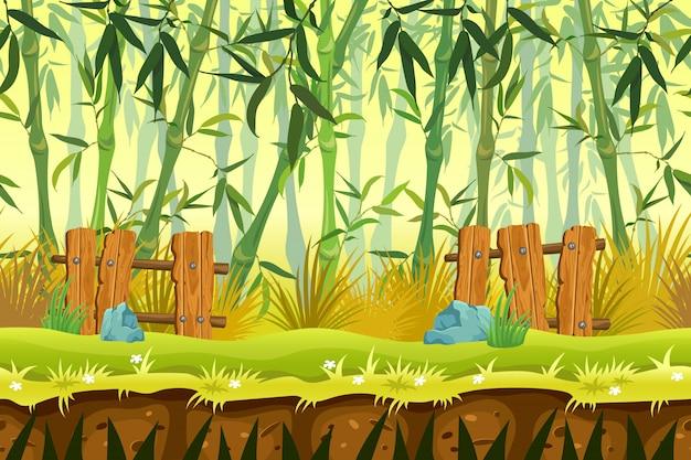 Бесшовный фон бамбуковый лес.