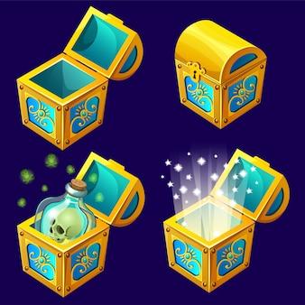 Изометрические сундуки с сокровищами
