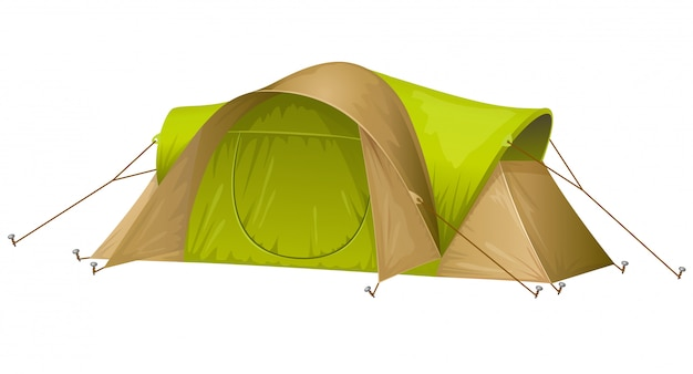 Туристическая палатка изолирована