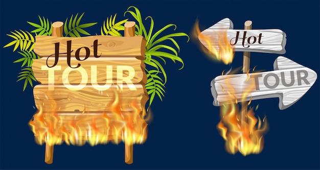 炎焼けの販売の木製パネル。