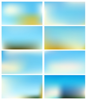 抽象的な青い背景をぼかした写真の空。