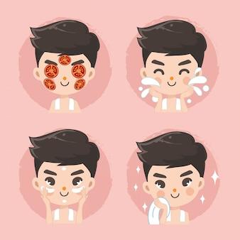 Лечение томатного лица мужчин