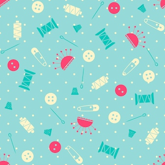 シームレスなベクター縫製パターン