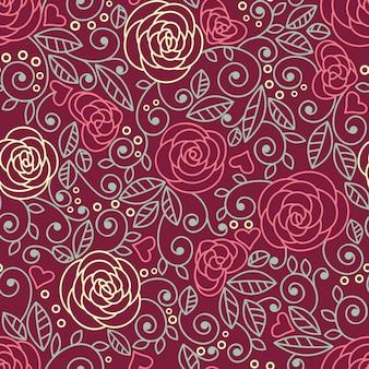Розы бесшовные модели