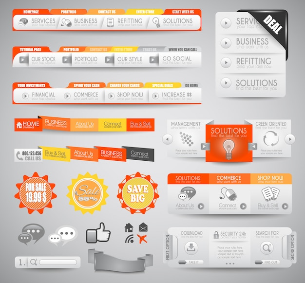 Качественные чистые веб-элементы для блога и сайтов.