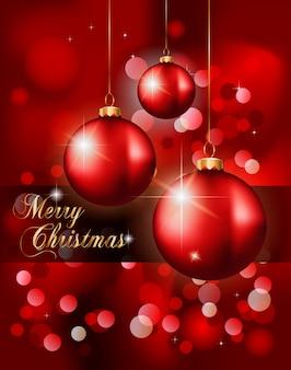 エレガントな古典的なクリスマス背景