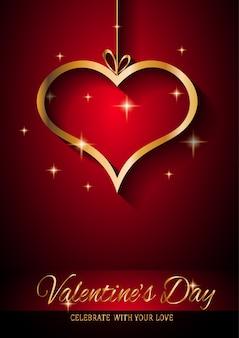 バレンタインのグリーティングカード