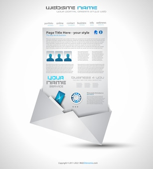ビジネス向けのウェブサイトのレイアウト設計