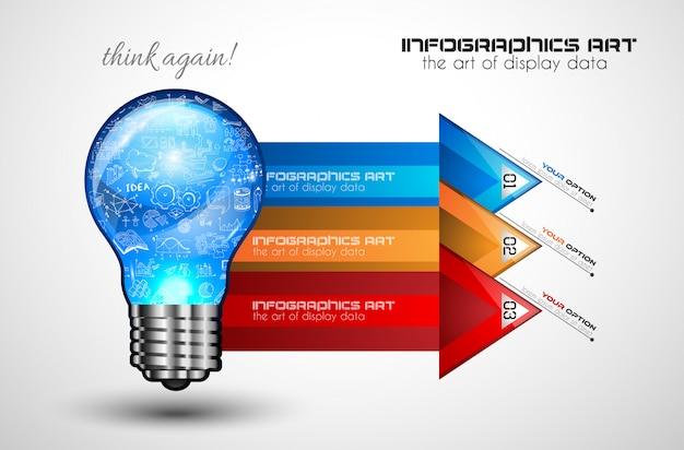 ブレーンストーミングとインフォグラフィックのアイデアコンセプト